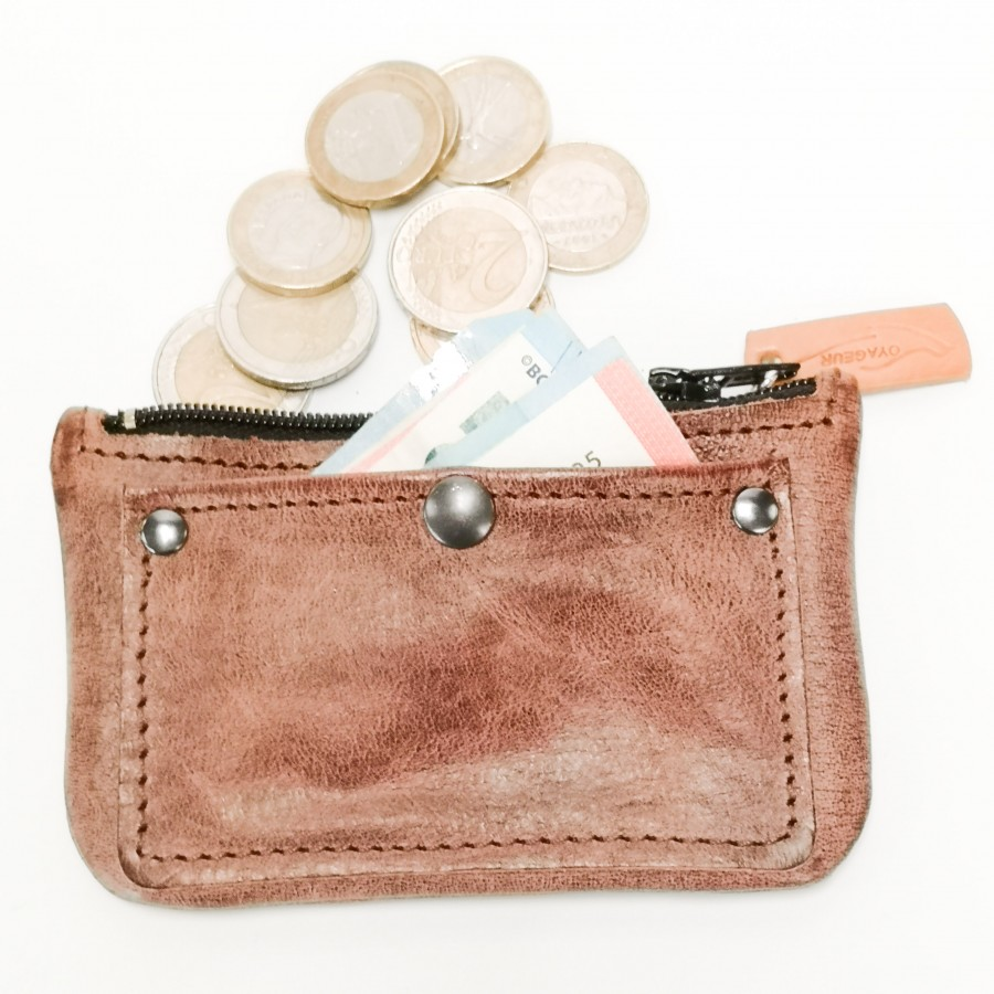 Porte monnaie cuir Pocket