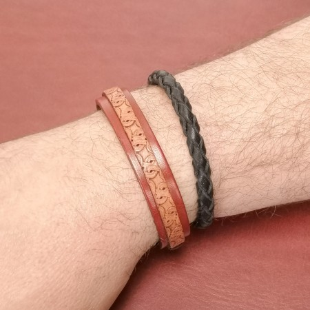 Bracelet tendance homme cuir original artisanal