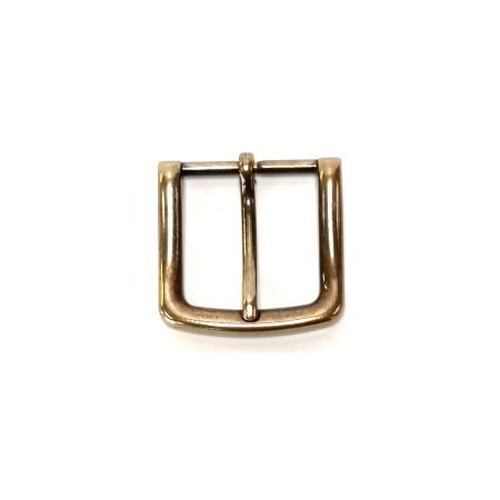 Boucle ceinture 3.5 cm jaune laiton n°37