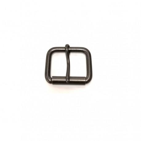 Boucle métal noir courte rouleau ceinture 3.5 cm