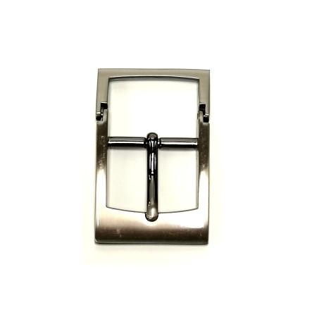 Boucle ceinture grise Idam atelier cuir Voyageur