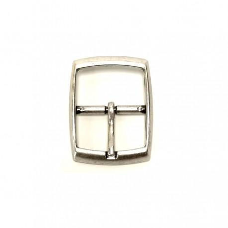 Boucle rectangle vieil argent ceinture 3 cm Voyageur