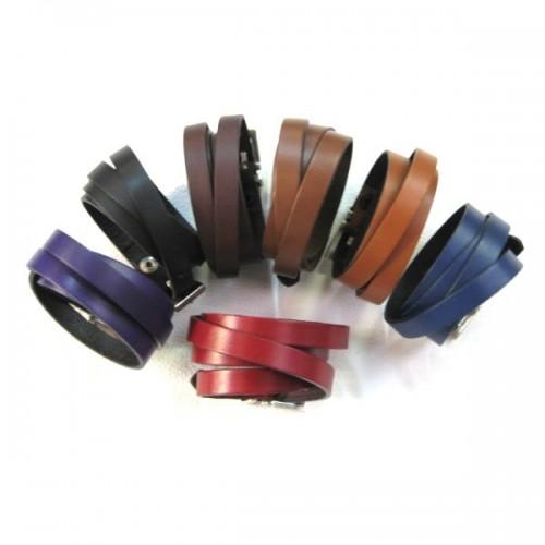 Bracelet cuir Multi Tours Boucle