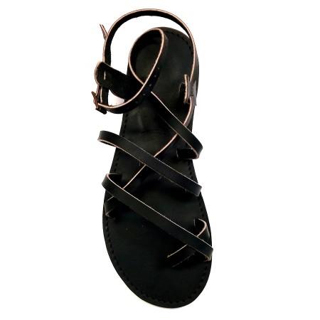 """Sandales Grec """"supportlo"""" noir homme"""