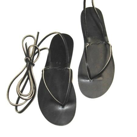 Sandales à lacets Mini noir