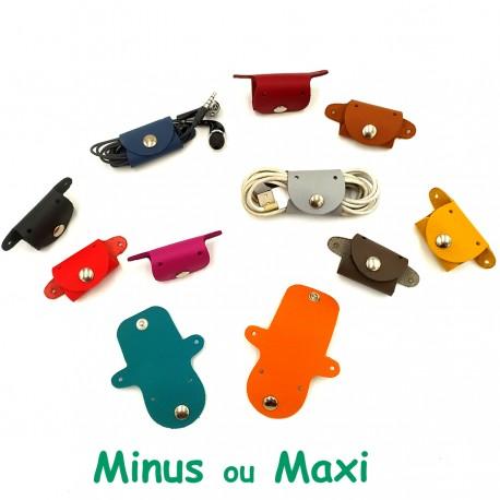 Range cable écouteurs USB cuir original