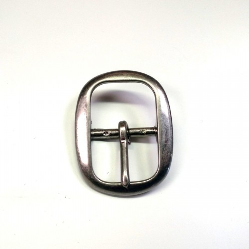 """Boucle de ceinture 3 cm n°18 """"vieil argent"""" atelier Voyageur"""