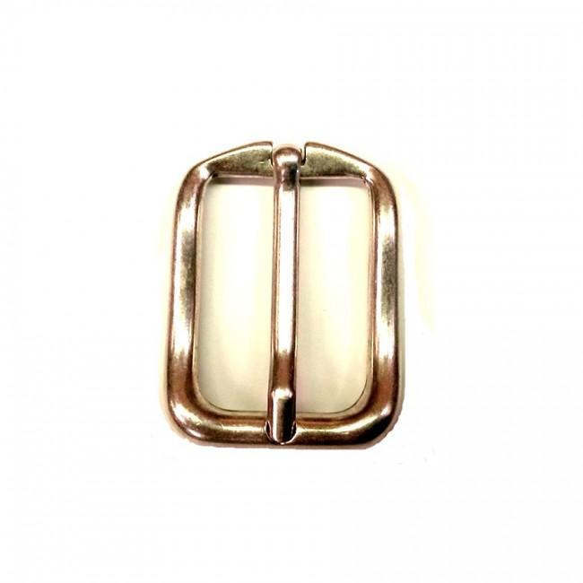 """Boucle de ceinture 3 cm n°25 """"vieil argent"""""""