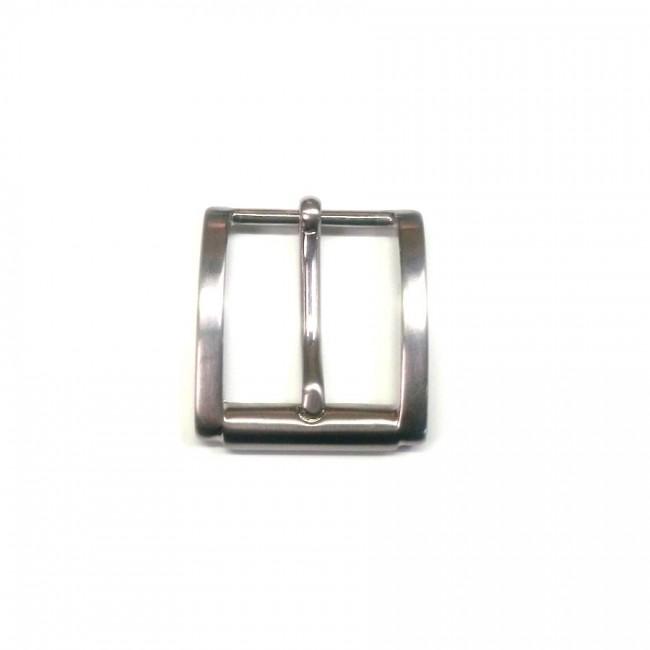 Boucle n°33 finition nickel pour ceinture cuir 3 cm Voyageur