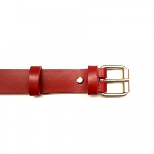 Ceinture 3 cm fine rouge boucle 32 fabrication artisanale française mode femme Voyageur