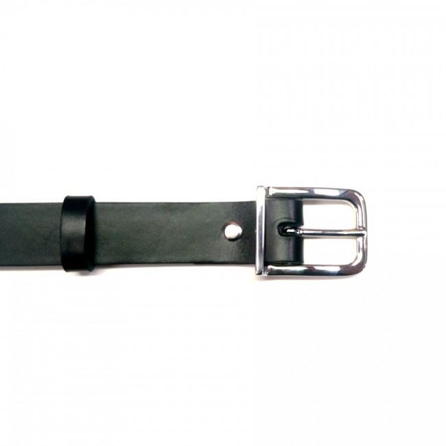 Ceinture 3 cm collet noir boucle 27 artisan Voyageur