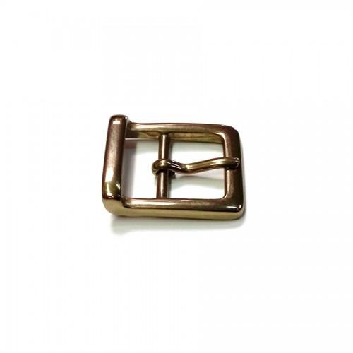 Boucle ceinture 2.5 cm n°18 laiton massif atelier cuir Voyageur