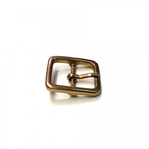 Boucle de ceinture 2.5 cm n°19 laiton massif atelier cuir Voyageur