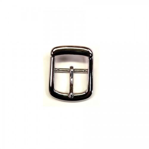 Boucle de ceinture 2.5 cm n°13 finition nickel pour ceinture cuir artisanale Voyageur