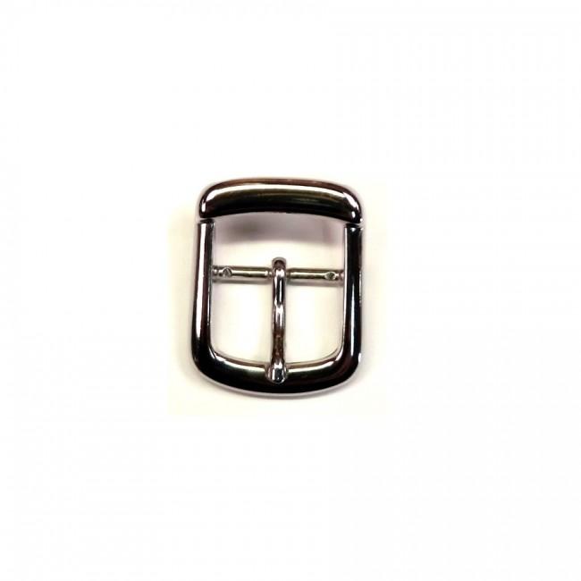 035914935047 Boucle de ceinture 2.5 cm n°13 finition nickel pour ceinture cuir  artisanale Voyageur