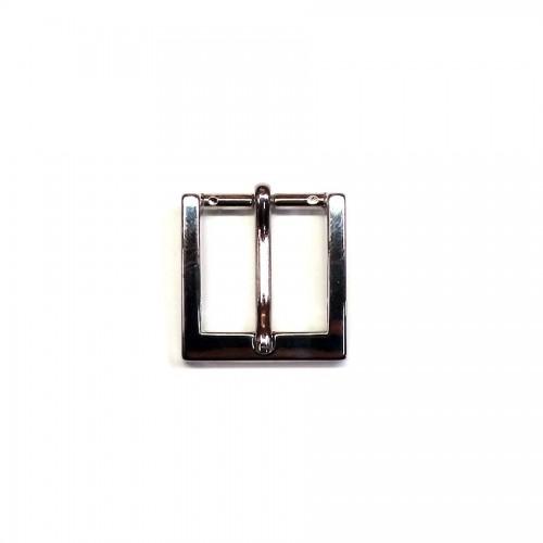 Boucle de ceinture 2.5 cm n°20 finition nickel atelier cuir Voyageur