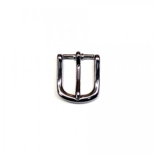 Boucle de ceinture 2.5 cm n°22 finition nickel artisan Voyageur