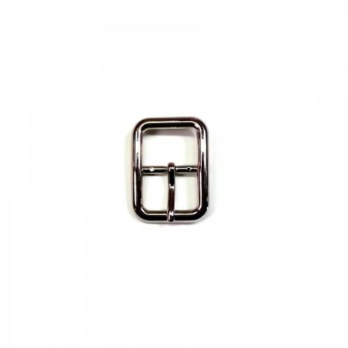Boucle pour ceintures en cuir 2.5 cm n°11 finition nickel argent atelier Voyageur