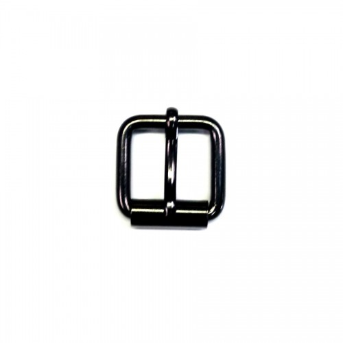 Petite boucle de ceinture 25 mm n°15 à rouleau finition laqué noir Voyageur