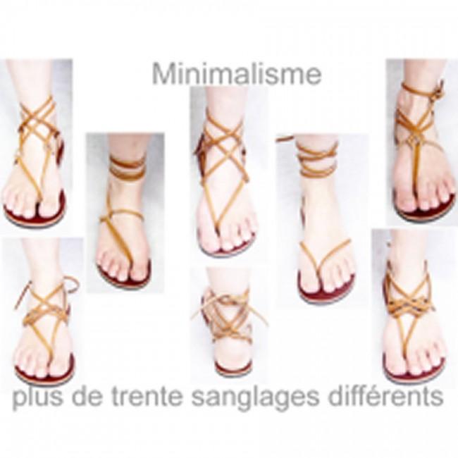 Spartiates Pieds Huaraches Sandale Tongs Sandalettes Nu Cuir Femme 76gybf