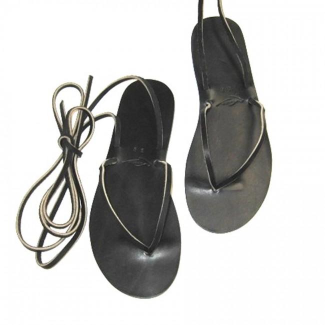 Sandales cuir à lacets ajustables artisan Voyageur