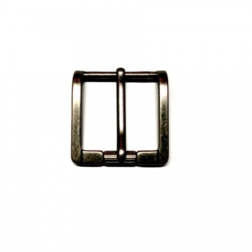 """Boucle 4 cm n°67 effet """"vieil argent"""" pour ceinture cuir atelier Voyageur"""
