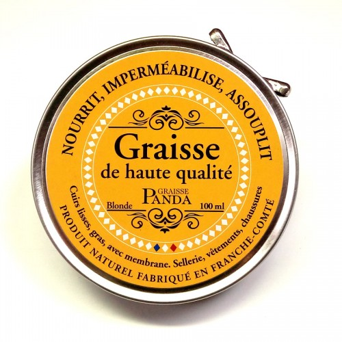 Graisse Panda 100 ml nourrir et protéger les cuirs made in France