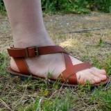 Sandale cuir véritable français Voyageur mixte 40 fabrication artisanale française