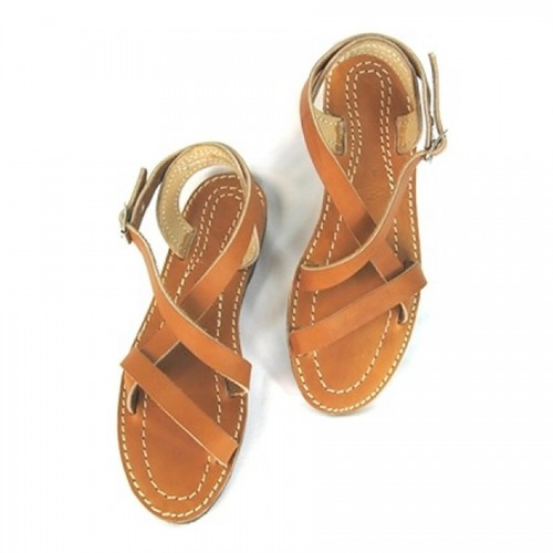 "Sandales Voyageur ""supportlo"" marron"