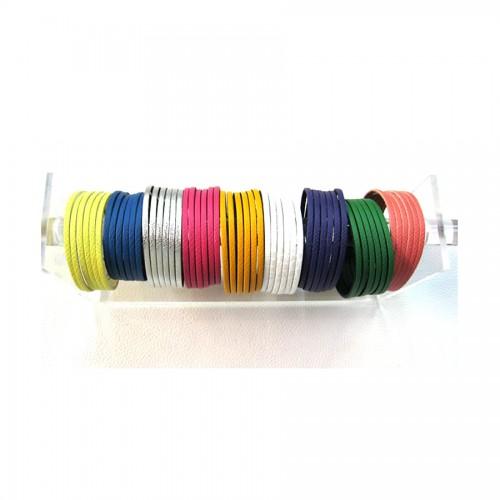 Bracelet 6 brins couleur fantaisie