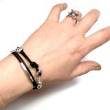 Bracelet femme Ancre bijoux cuir artisan fabricant créateur français Voyageur
