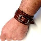 Bracelet Force homme mode rock accessoire cuir fabrication française artisan Voyageur