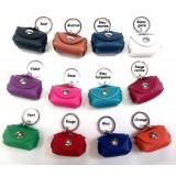 Porte-clés cuir mini sac cuir cadeau pratique Voyageur