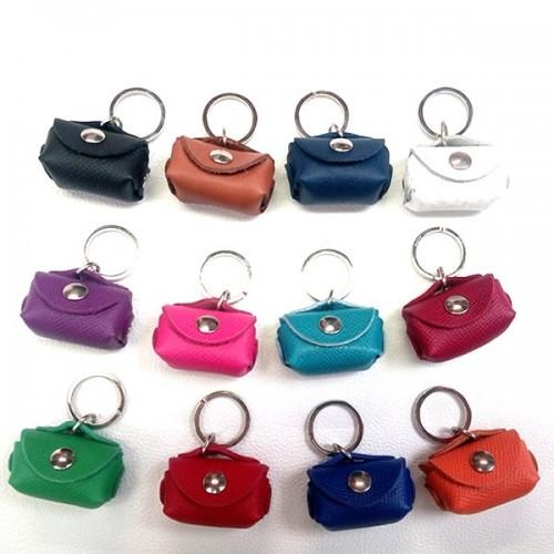 Porte-clés cuir porte monnaie