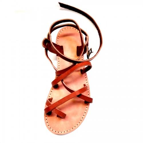 Sandales Grec marron classique