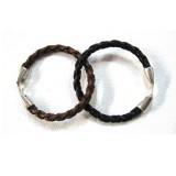 Bracelet cuir torsade homme femme Voyageur