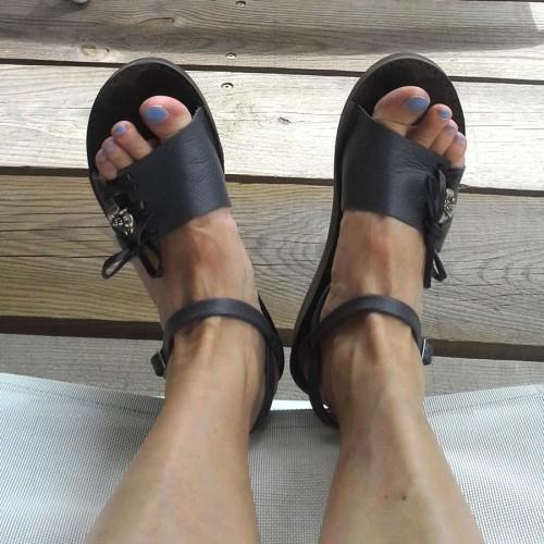 Sandales femme personnalisable confortable fabrication française artisan Voyageur