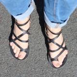 Sandales Grecs homme cuir véritable