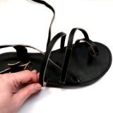 Sandales homme confortables réglables cuir français