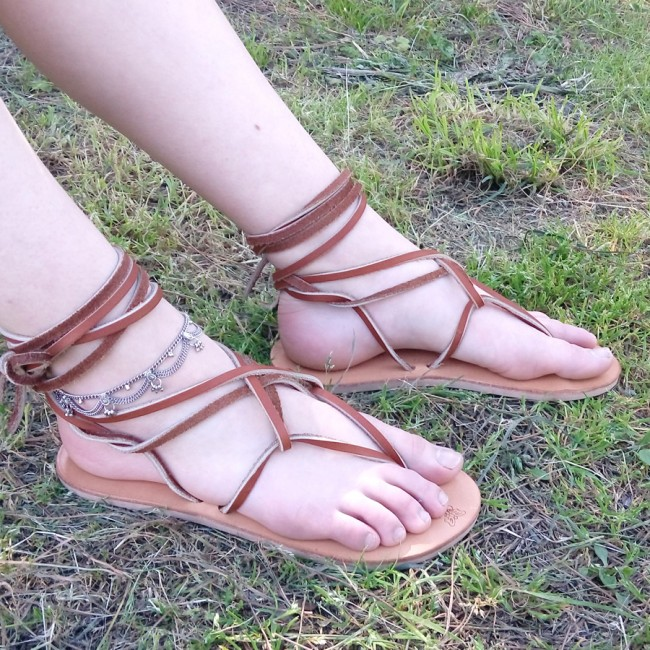 Sandales femme cuir Mini Nude