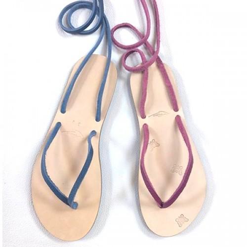 Sandales cuir artisanales françaises sur mesure coloris au choix