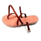 Sandale Mali marron réglable fabrication française