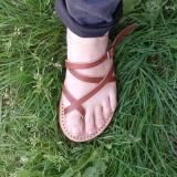 Nu pieds femme marron claquette atelier Voyageur