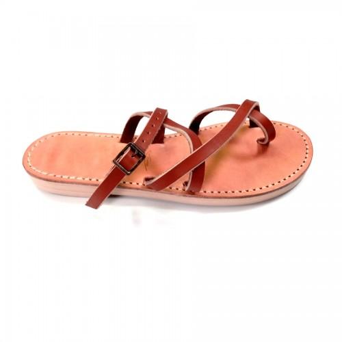 Sandales cuir homme claquettes marron