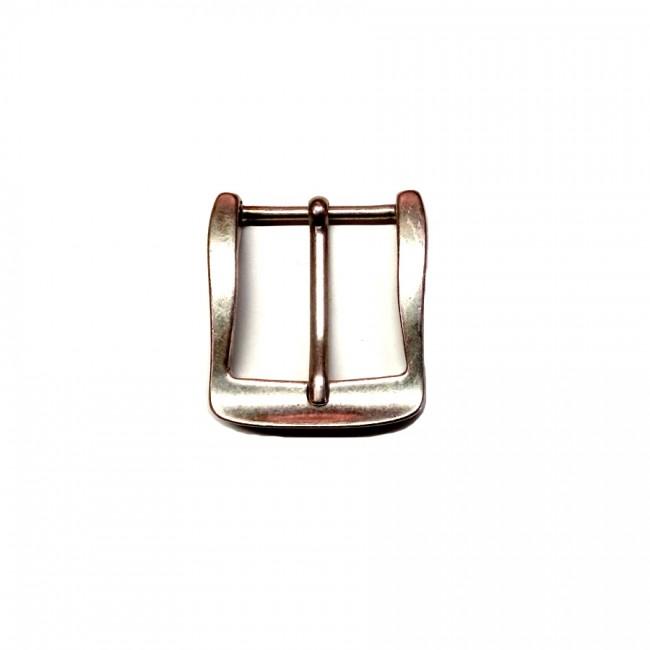 """Boucle ceinture cuir 4 cm n°66 """"vieil argent"""" artisan Voyageur"""