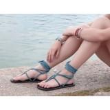 Sandales cuir lacets création made in France La Rochelle Voyageur