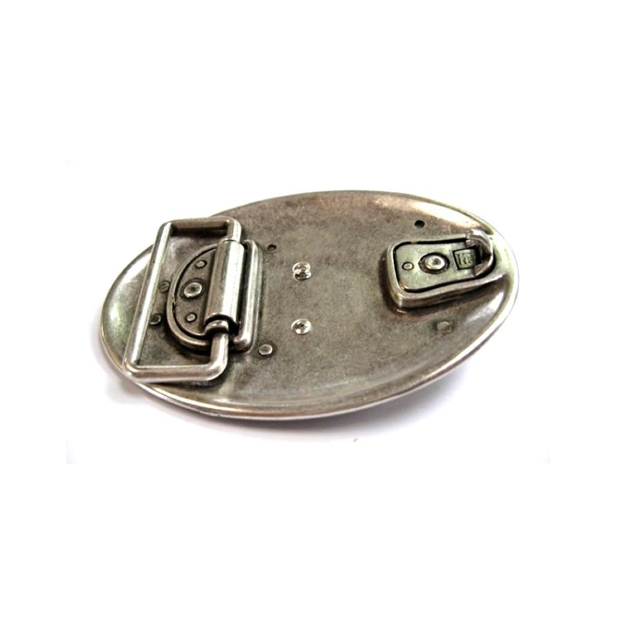 Boucle crane buffle western vieil argent ceinture cuir qualité solide 1b896ec9829