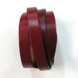 Bracelet cuir véritable femme rouge plusieurs tour luxe made in France Voyageur