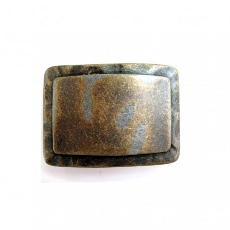 Plaque de ceinture métal froissé 4 cm n°18