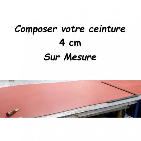 Ceinture Sur Mesure 4 cm Cuir Véritable